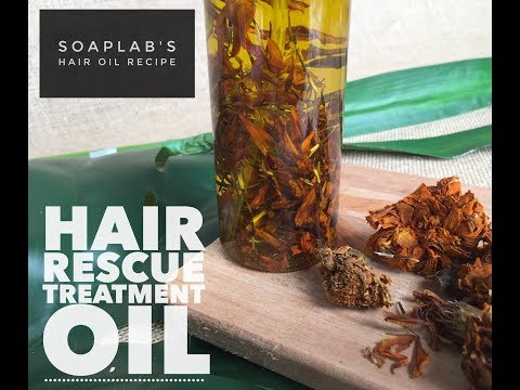 HOW TO MAKE: Damaged Hair Rescue Treatment Oil