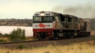 Trains in the South Australian Desert - October 2013