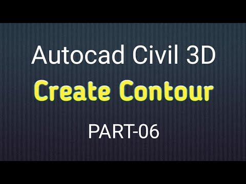 05 Create surface Contour in AutoCad Civil 3D
