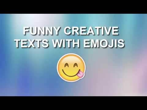 FUNNY CREATIVE TEXTS WITH EMOJIS 2016