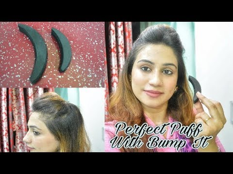 Quick Perfect PUFF With BUMP IT | Everyday Quick Puff Hairstyle For School/College/Work