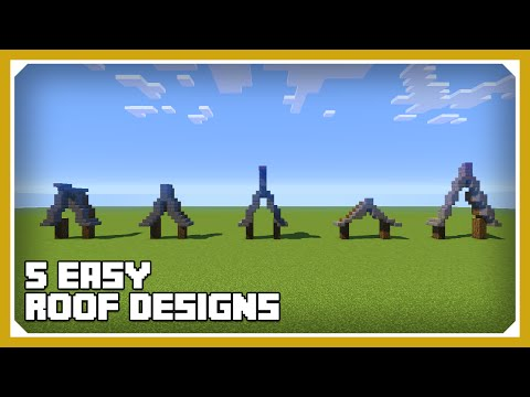 Minecraft: How To Build a Roof Design Tutorial (Easy Survival Minecraft)