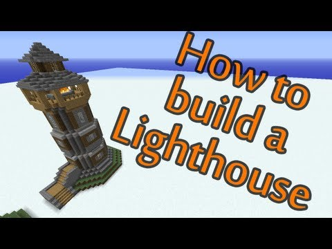 How to build a Lighthouse - Minecraft building tutorial