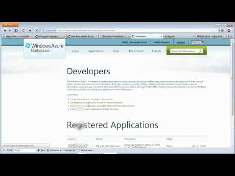 New Microsoft Translator API with
