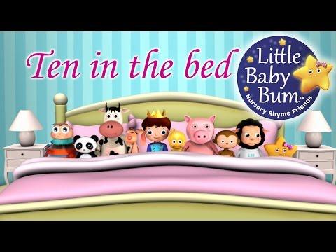 Ten In The Bed   Nursery Rhymes   from LittleBabyBum!