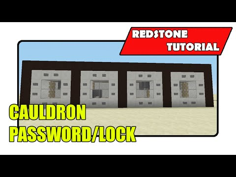 Cauldron Password/Lock (Minecraft Xbox TU25/CU14/PlayStation CL1.17)