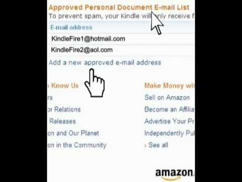Kindle Fire Approved Email List of Senders
