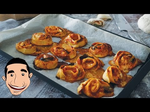 HOW TO MAKE PIZZA ROLLS RECIPE | Homemade Pizza Pockets | Collab with Chef Fanatic