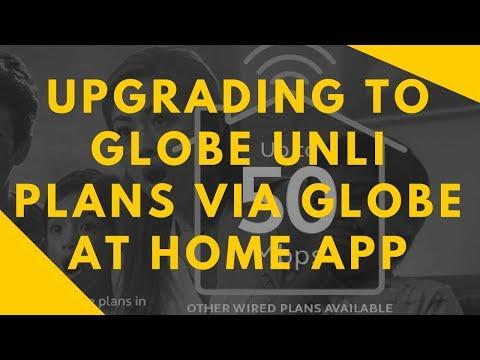 Upgrading to Globe Unli Plans via Globe at Home App