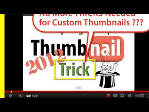 ★ HOW TO GET CUSTOM YOUTUBE THUMBNAILS WITHOUT BEING A PARTNER (MUST SEE) !!!
