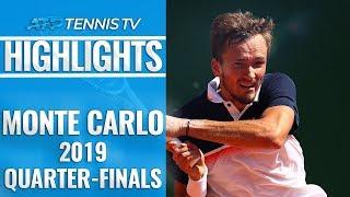 Medvedev Stuns Djokovic; Nadal Reaches 14th Semi-Final   Monte-Carlo 2019 Quarter-Final Highlights
