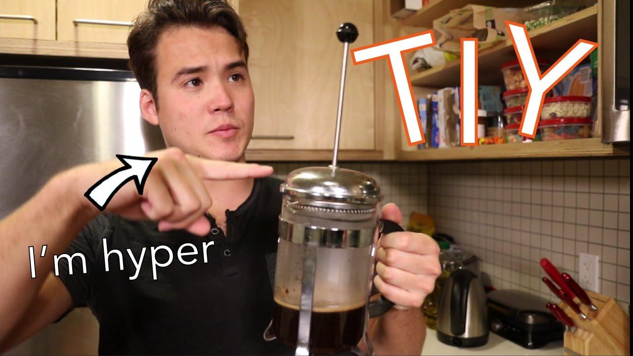 SELF INFLICTED CAFFEINE BINGE - French Press Coffee TIY