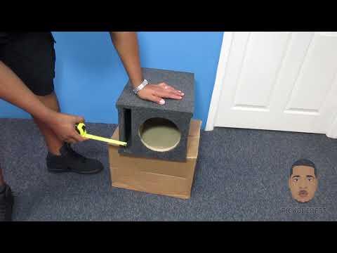 ASC Single 8 inch Subwoofer Universal Slot Vented Port Sub Box Speaker Enclosure