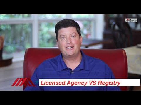Allegiance Alert: Licensed Agency vs Registry