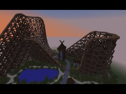 Minecraft 1.7.4 Ride The Wooden Roller Coaster
