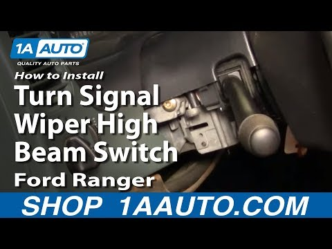 How To Install Replace Turn Signal Wiper High Beam Switch Ford Ranger 95-98 1AAuto.com