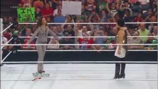 AJ Lee attacks Vickie Guerrero WWE Raw 8/27/12