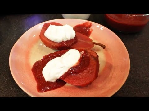 The Healing Slow Cooker - Hibiscus Poached Pears Slow Cooker Recipe