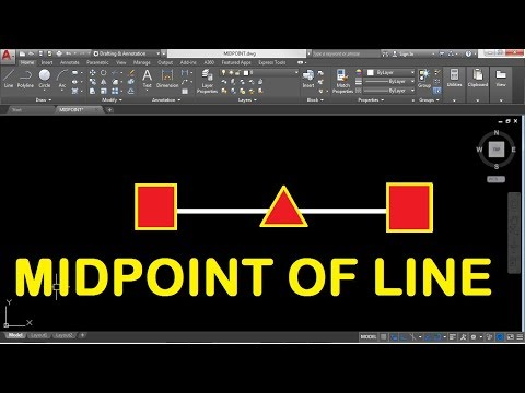 How to Find the Midpoint of a Line in AUTOCAD 2018