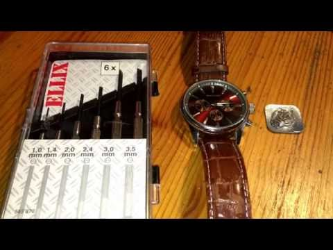 How to change wrist watch battery pressure plate Rover & Lakes watch DIY