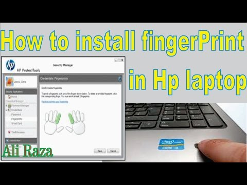 How to Enable and Install FingerPrint Driver& Software  in Hp Laptop.