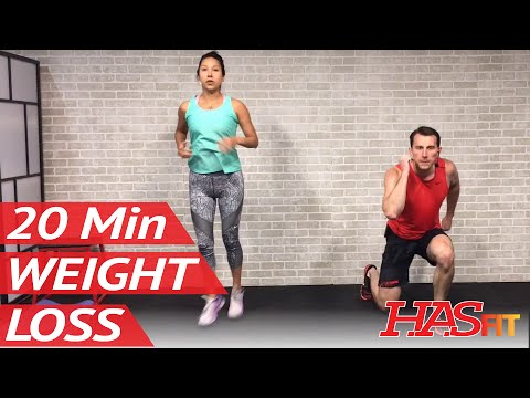 20 Min Home Workout without Equipment for Women & Men - Exercises to Lose Weight Fast at Home