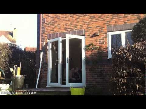 How to fit a pair of UPVC French Doors.Timelapse Hd app. Edited Version