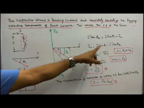 A C FUNDAMENTALS  - PART - 11 - ROLE OF CAPACITOR IN POWER FACTOR IMPROVEMENT