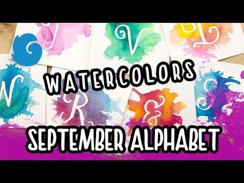Winterbird's September Alphabet with Watercolors