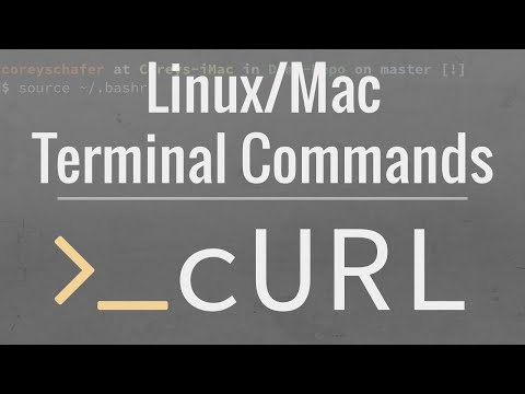 Linux/Mac Terminal Tutorial: How To Use The cURL Command