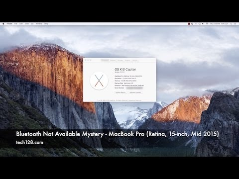 Bluetooth Not Available Mystery - MacBook Pro (Retina, 15-inch, Mid 2015)