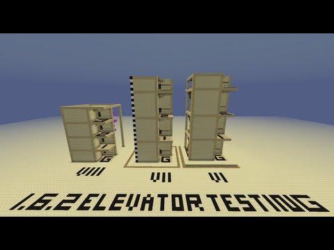 Minecraft 1.6.4 & 1.8 Elevator New Version VI, VII, VIII