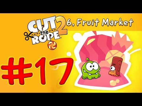 Cut The Rope 2 - Level 137 Fruit Market - All Medals Walkthrough