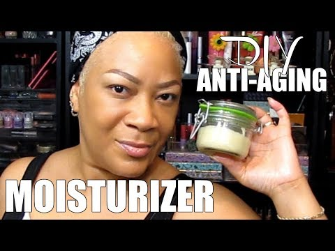 DIY AM/PM NATURAL ANTI-AGING ANTI-WRINKLE FACE MOISTURIZER USING SHEA BUTTER