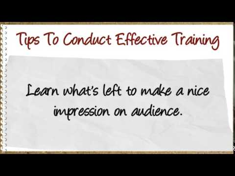 8 Professional Tips to Conduct Effective Training Sessions