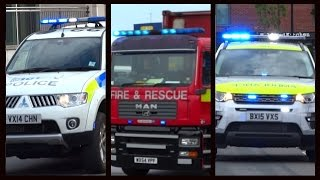 Fire Engines, Police Cars and Ambulances responding - Compilation 16