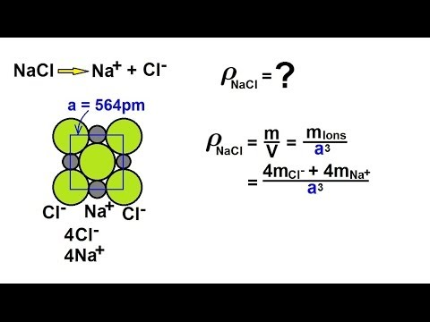 Chemistry - Liquids and Solids (38 of 59) Crystal Structure: Ionic - Density