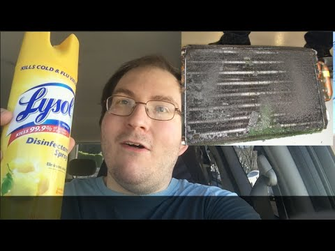 How to: Solve bad smells with your HVAC system by disinfecting with Lysol (or similar)