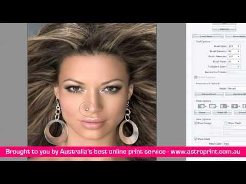 Photoshop Tutorial change nose size using liquify tool