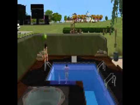 Beatiful sims dive from diving board