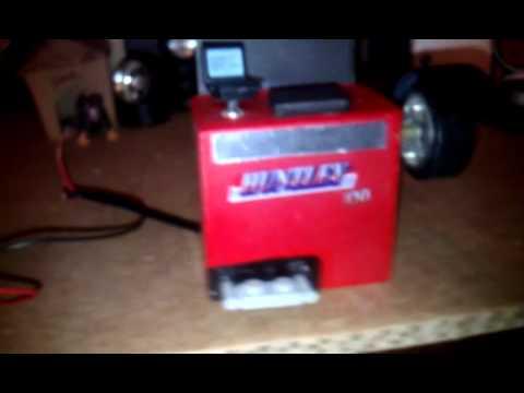 Scratch build tire balancer & barrel/model cars