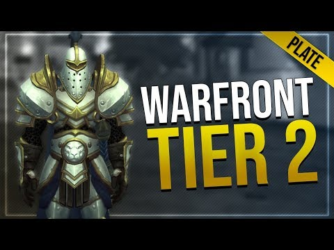 Warfront Tier 2 Plate Armor & Weapons   All Races   Battle for Azeroth!