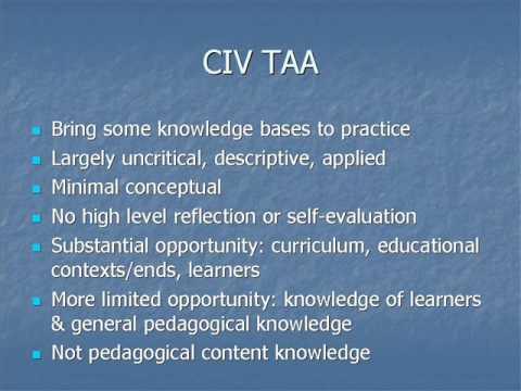 Teacher training and teachers' knowledge in Australia
