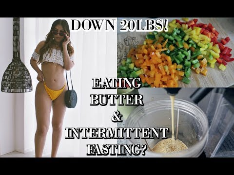 WHAT I ACTUALLY EAT IN A DAY: INTERMITTENT FASTING & EATING BUTTER TO LOSE WEIGHT