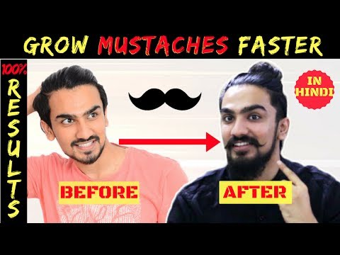 Grow Mustache Naturally FAST In Hindi 2017 | Handlebar Mustache Growing Tips | Indian Men's Guide