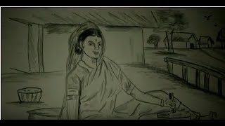 How to draw sketch indian women . In village slide show by Brother S Alltech