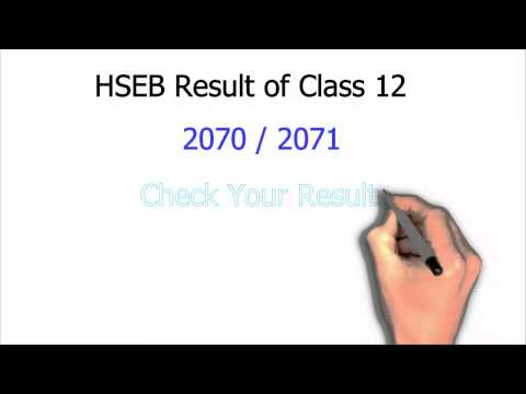 HSEB Results 2071 with Marksheet