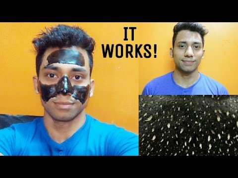 DIY Charcoal Peel Off Mask For Men | How To Apply Charcoal Peel Off Mask On Men