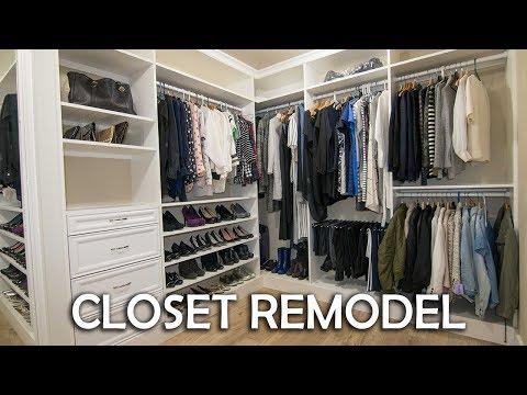 Walk In Closet Remodel DIY