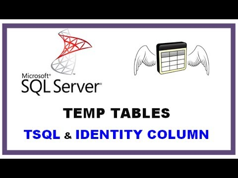 SQL Server Temp Tables - TSQL Command Line  with  IDENTITY